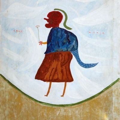 LOVER FROM ILIJADA, 1960, oil/canvas, 67.5x54.5cm