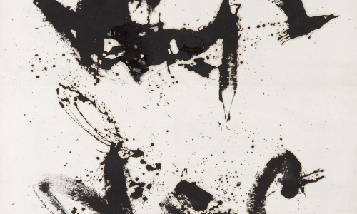 PAINTING, 21/9/63, 1963, oil / paper lined on canvas, 161x125cm