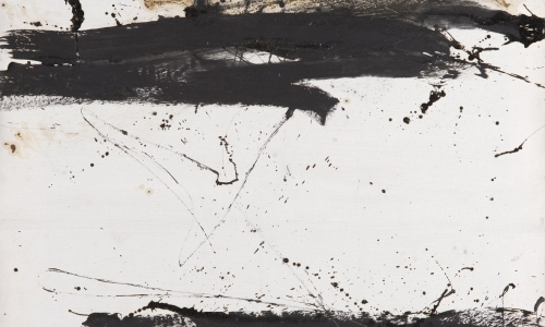 PAINTING 15/9/63, 1963, oil / paper lined on canvas, 161x125cm