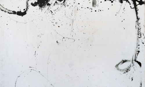 PAINTING 26/2/65, 1965, oil and sand / paper lined on canvas, 180x160cm